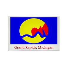 Grand Rapids MI Flag Rectangle Magnet
