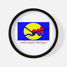Grand Rapids MI Flag Wall Clock