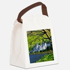 Castle By The Lake Canvas Lunch Bag
