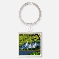 Castle By The Lake Square Keychain