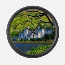 Castle By The Lake Large Wall Clock