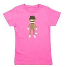 Funny Sock monkey Girl's Tee