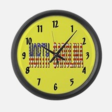 Patriotic North Carolina Large Wall Clock