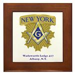 Wadsworth Lodge 417 Framed Tile