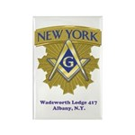 Wadsworth Lodge 417 Rectangle Magnet