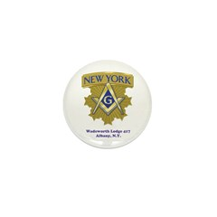 Wadsworth Lodge 417 Mini Button (100 pack)
