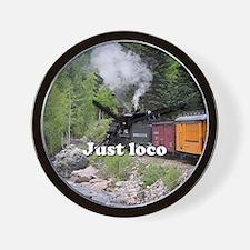 Just loco: Steam train Colorado Wall Clock