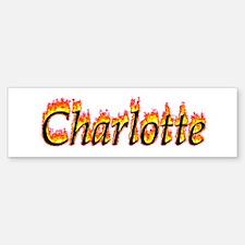 Charlotte Flame Bumper Bumper Bumper Sticker