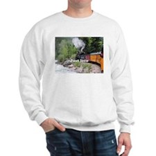 Just loco: Steam train Colorado Sweatshirt