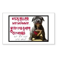 Dog Fighting Victim Rectangle Decal