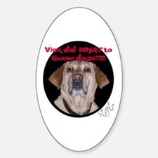 Shocked Dog Oval Decal