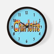 Charlotte Flame Wall Clock