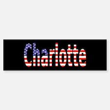 Patriotic Charlotte Bumper Bumper Bumper Sticker
