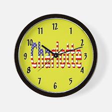 Patriotic Charlotte Wall Clock