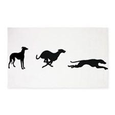 3 Greyhounds Double Suspension Area Rug