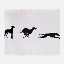 3 greyhounds double suspension Throw Blanket