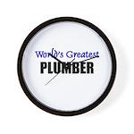 Worlds Greatest PLUMBER Wall Clock