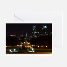 A Night View Of Philly Greeting Card