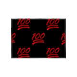 100 emoji 5x7 Rugs