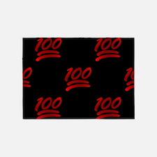 one hundred emoji 5'x7'Area Rug