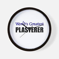 Worlds Greatest PLASTERER Wall Clock