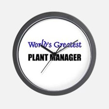 Worlds Greatest PLANT MANAGER Wall Clock
