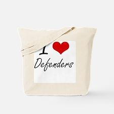 I love Defenders Tote Bag