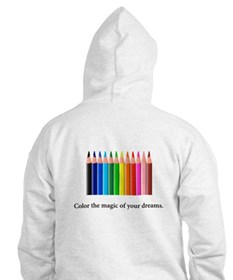 Color The Magic Rainbow Pencil Gifts Hoodie