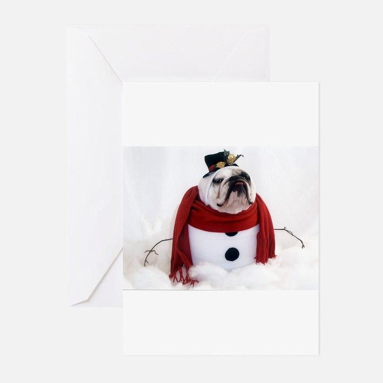 Cute Bulldog christmas Greeting Cards (Pk of 10)