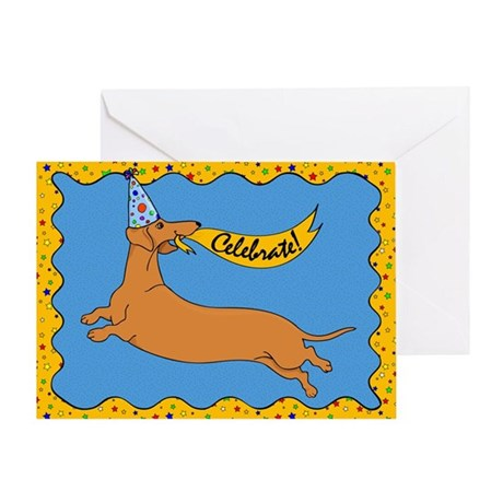 Weiner Dog Happy Birthday Greeting Card