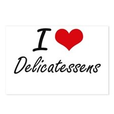 I love Delicatessens Postcards (Package of 8)