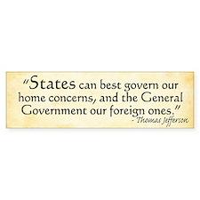 Thomas Jefferson Original Intent Bumper Bumper Sticker
