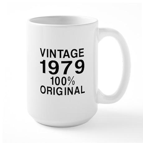 Vintage 1979 Birthday Designs Large Mug