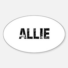 Allie Oval Decal