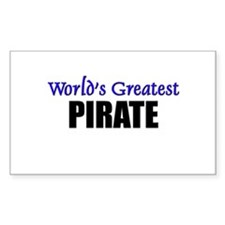 Worlds Greatest PIRATE Rectangle Decal