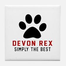 Devon Rex Simply The Best Cat Designs Tile Coaster