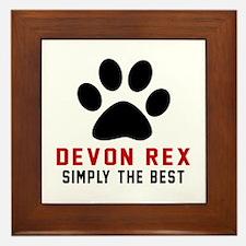 Devon Rex Simply The Best Cat Designs Framed Tile