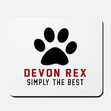 Devon Rex Simply The Best Cat Designs Mousepad