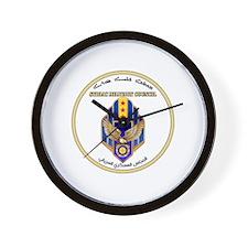 Syriac Military Council (MFS) Logo Wall Clock