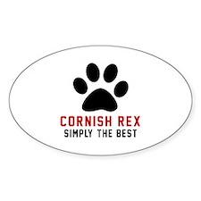 Cornish Rex Simply The Best Cat Des Decal