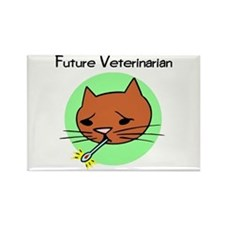 Future Veterinarian - Sick Ki Rectangle Magnet