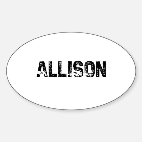 Allison Oval Decal
