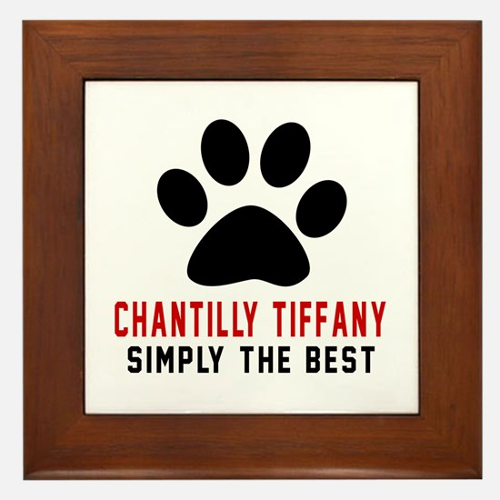 Chantilly Tiffany Simply The Best Cat Framed Tile