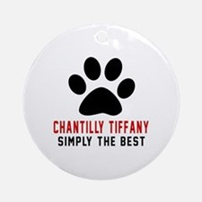 Chantilly Tiffany Simply The Best C Round Ornament