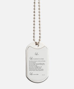 Love Is Patient, Love Is Kind Dog Tags