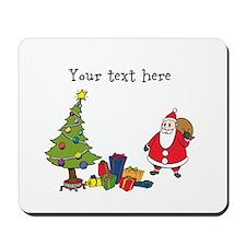 Personalized Holiday Santa Mousepad