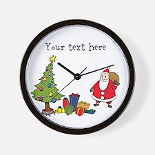 Personalized Holiday Santa Wall Clock