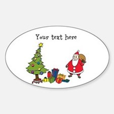 Personalized Holiday Santa Decal