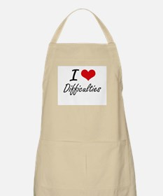 I love Difficulties Apron