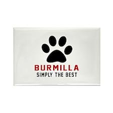 Burmilla Simply The Best Cat Desi Rectangle Magnet
